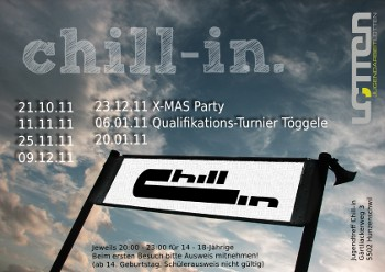 Chill-in Saison Flyer 2011/12