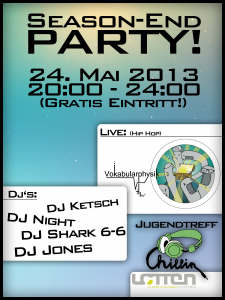 Flyer Jugendtreff Chill-in Season-End Party 2013