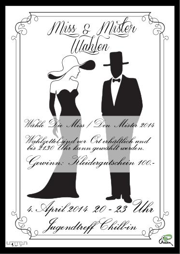Flyer Miss & Mister Wahlen