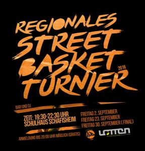Streetball Turnier Flyer 2016